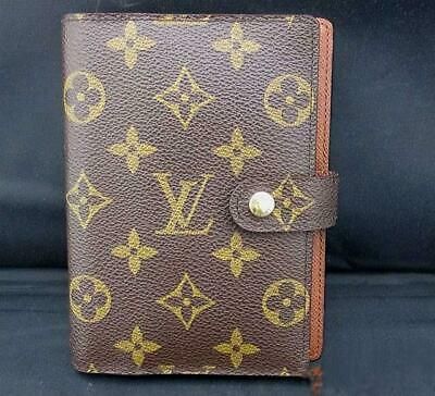 LOUIS VUITTON Agenda PM Notebook Cover Case R20005 Monogram Brown Used Vintage