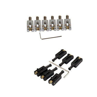 6 Roller Bridge Tremolo Saddles With Wrench For Fender Strat Tele Electric E9B9