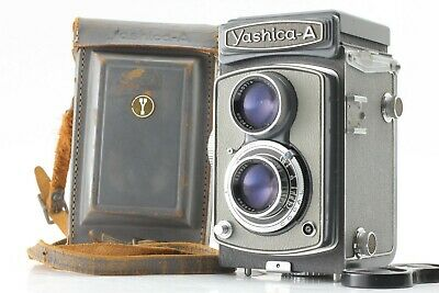 【Near MINT+++】Yashica-A 6x6 TLR Camera w/ 80mm f3.5 Leather Case from JAPAN 562