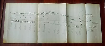 1892 Comparative Map, Ark. River, Forth Smith Ark.