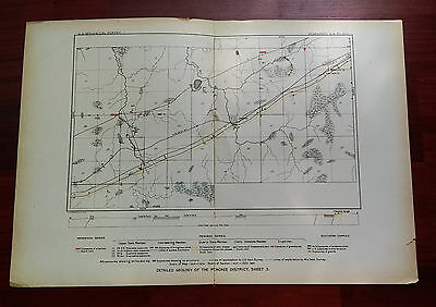 Late 1800's Geological Sketch Map Penokee District WI Central Railroad Upson