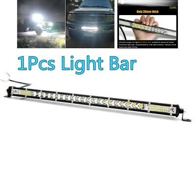 1X Spot Flood Combo LED Light Bar for 4x4 Offroad Car Tractor Boat 4WD Truck ATV