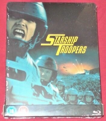Starship Troopers Zavvi Exclusive Blu-Ray Steelbook Brand New Sealed Region Free