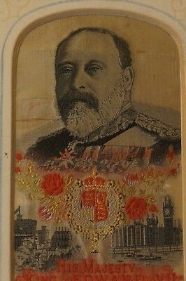 King Edward VII embroidery on silk