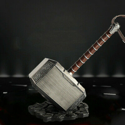 1:1 Avengers Thor The Dark World Hammer Mjolnir Prop Cosplay ABS Toy+Base Gifts