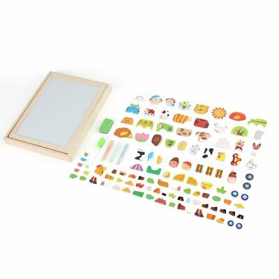 Wooden Magnetic Double-Sided Puzzle Board Children's Educational Toys