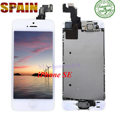 Pantalla Completa LCD iPhone SE Display Retina Tactil Digitalizador Blanco+BOTÓN