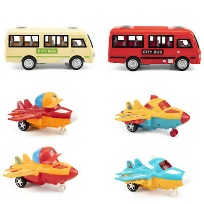 Inertia Creative Toys Plane Friction Powered Cars Or Toys City Bus for Kids LM