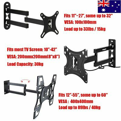 Full Motion TV Wall Mount Bracket Swivel Tilt 10 12 22 32 40 42 55 65 in LED LCD
