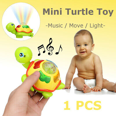 Infant Small Turtles For Baby Kids Crawling Wind Up Toy Music Educational Toys