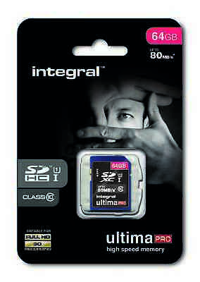 64GB SD Ultimapro SDXC SD Card Class 10 U1 UHS-I Memory Card 80MB/S For Camera