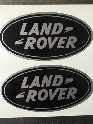 2x LAND ROVER OVAL DEFENDER DISCOVERY BADGE ViNYL DECAL STICKER 180X90MM