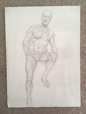 Set Of 4 Royal Academy Artist Nude Sketches - 1930s - R Sherrin
