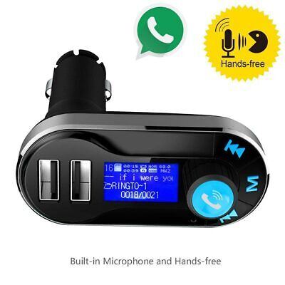 Bluetooth Car FM Transmitter Hands free Player Radio Adapter Kit USB Charger MP3