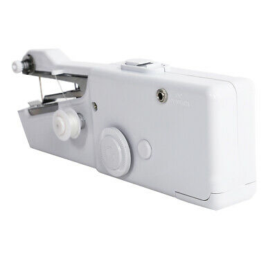 White Portable Travel Electric Mini Handheld Sewing Machine Clothes Stitch Tool