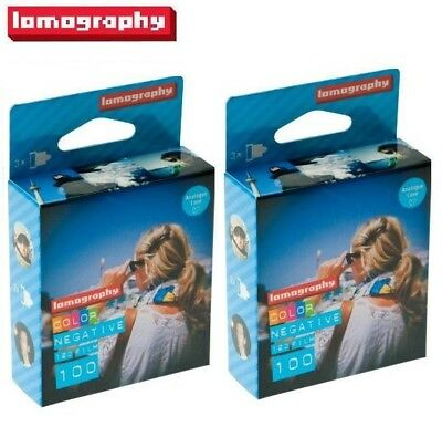 6  x Lomography LOMO 100 ISO 120 Color Negative Medium format Print Film - US