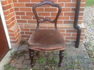 Antique Georgian Style Balloon Back mahogany Chair