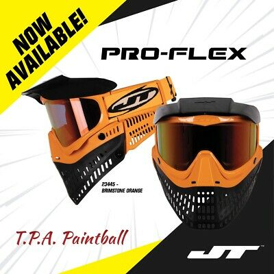 NEW JT Proflex Spectra Paintball Goggle Mask Orange Black Thermal Prism Lens