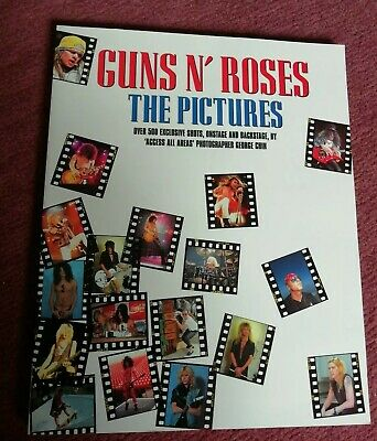 Guns N Roses The Pictures book George Chin *****VERY RARE*** Great condition
