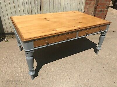 Large Antique,Victorian Partners Library Table / Kitchen Table