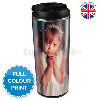 Personalised Custom Photo Slim Thermal Mug Coffee Tea Steel Travel Flask Cup
