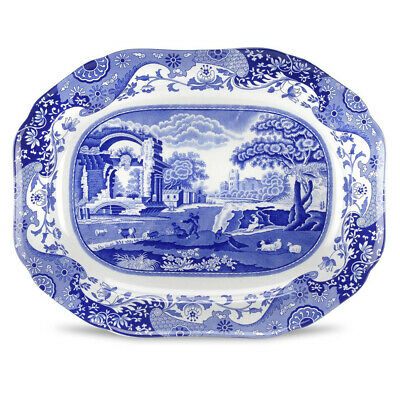 NEW Spode Blue Italian Oval Serving Dish 36x28cm