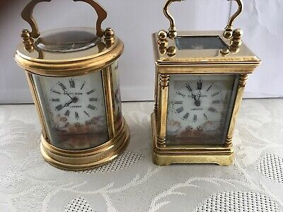 Two Minature Carriage Clocks By The Same Maker