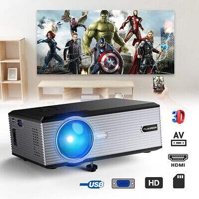 Nero FLOUREON BL88 HD proyector LCD LED 3000 Lúmenes VGA USB AV SD HDMI TV ES