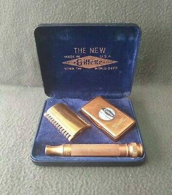 Rasoio Antico Gillette Known The World Over Made In Usa Vintage 1920
