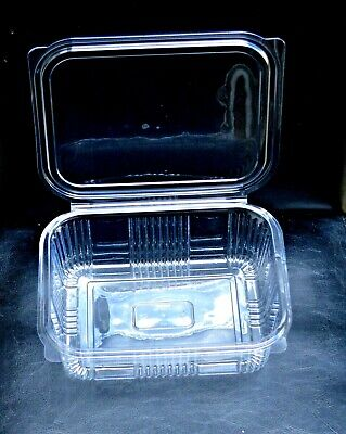 DISPOSABLE CLEAR PLASTIC CONTAINERS / BOX MULTI-PURPOSE FOOD /CAKE/ SALAD 1500cc