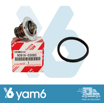 Genuine Toyota Cooling Thermostat And Gasket 90916-03093 16325-62010