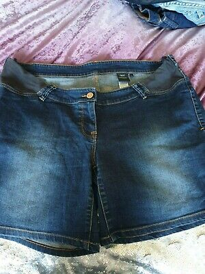 Womens  Ladies  Next   Jean Denim  Maternity   Shorts Bnwt New Size  16