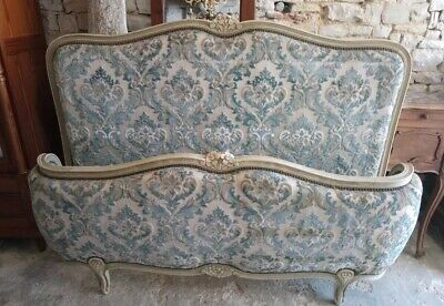 Antique French Demi Corbielle (Corbeille)Double Bed Frame Louis XV Style