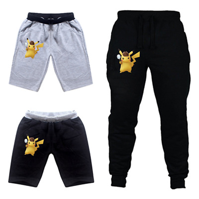 New Pokemon Pikachu Kids Casual shorts Pants Costume Clothes Casual Trousers