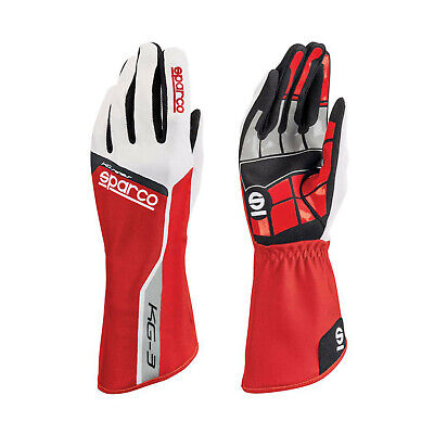 Sparco Track KG-3 Kart Gloves Red - Genuine - 12