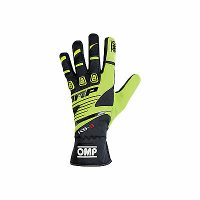 OMP KS-3 MY18 Gloves black/yellow - Genuine - XL