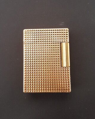 ST Dupont accendino gas L1 small BR briquet réglable lighter oro rosso feuerzeug