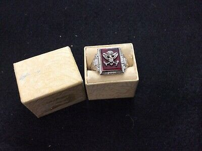 VINTAGE WW2 US ARMY Eagle New Old Stock RING, STERLING 1940'S