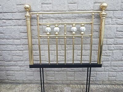 Vintage Brass Headboard – Collectible Antique