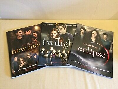Lot of 3 Complete Illustrated Movie Companion Twilight Movie, Eclipse & New Moon