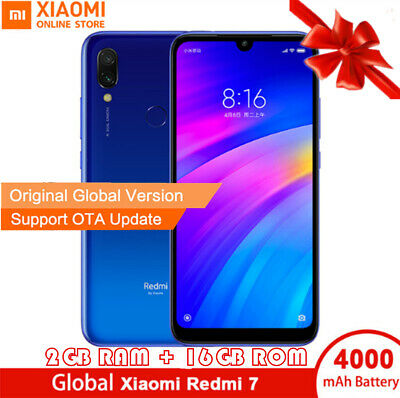 "Global 6.26"" Xiaomi Redmi 7 4G Smartphone Octa Core 16GB Android 9.0 Fingerprint"