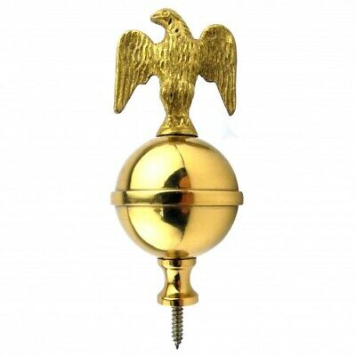 Long Case Clock Brass Ball & Eagle Finial Longcase Grandfather 75mm - CE25