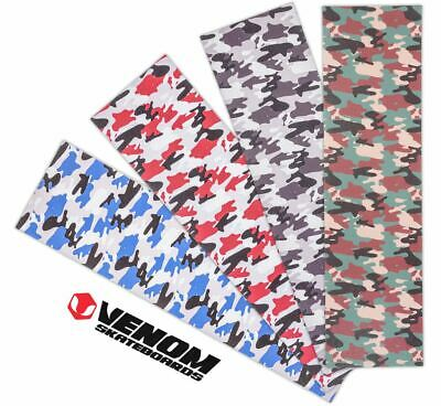 "Venom Skateboards Perforated Skateboard Grip Tape 9"" x 33"" - Camo"