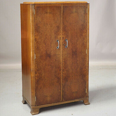 Art Deco Compactum (delivery available) Burr Walnut Linen Cupboard Wardrobe