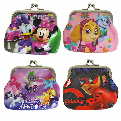 Children's Character PVC Metal Clasp Coin Purse - Choose Design
