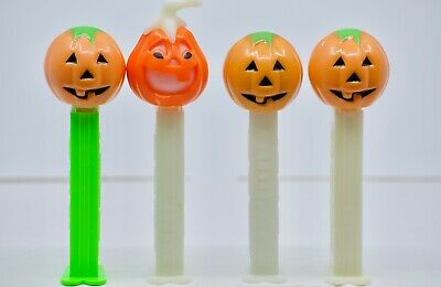 9 PEZ Dispensers Lot Auction Halloween Witches / Skull / Pumpkins / Glow in Dark