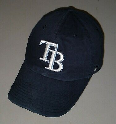 best sneakers e0b9b 868ed Tampa Bay Rays Hat Baseball Cap 47 Brand Adjustable Strapback Navy Blue