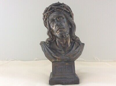 Metal Ecce Homo Statue Of Jesus Crowned With Thorns - Catholic Religious Art