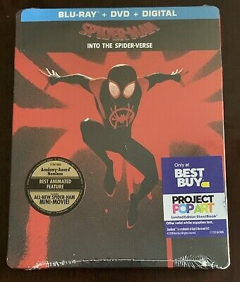 Spider-Man: Into the Spider-Verse Steelbook (Blu-ray/DVD/Digital HD) BRAND NEW!