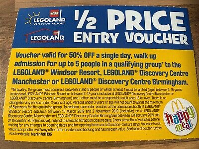 Legoland Half Price Voucher For Up To Five People Valid Till 2 November 2019